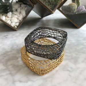 JEWELMINT Birdcage Bangles Cuffs Bracelets PAIR